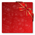 Vector Christmas glitter label with ribbon Royalty Free Stock Image
