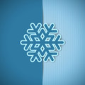 Vector christmas greeting card blue with place for text and snowflake Stock Images