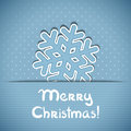 Vector christmas greeting card blue with place for text and snowflake Royalty Free Stock Photography
