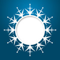 Vector christmas greeting card blue with place for text and snowflake Stock Photos
