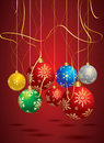 Vector Christmas hanging balls Royalty Free Stock Photo