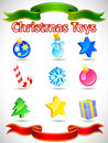 Vector Christmas icons Royalty Free Stock Photo