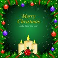 Vector Christmas & New-Year's greeting card Stock Photo