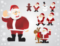 Vector christmas santa set Royalty Free Stock Photos
