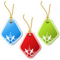 Vector christmas tags Stock Photo