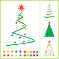 Vector Christmas tree Stock Photo
