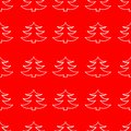Vector Christmas Tree Red Pattern