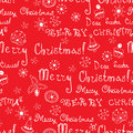 Vector christmas words in text seamless pattern the bright winter Stock Image