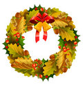 Vector christmas wreath Stock Photos