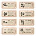 Vector Cinema tickets Royalty Free Stock Photo