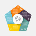 Vector circle arrows for infographic.Can be used for info graphi