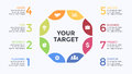 Vector circle arrows infographic, cycle diagram, graph, presentation chart. Business concept with 8 options, parts