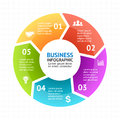 Vector circle arrows infographic, diagram, graph, presentation, chart. Business cycle concept with 5 options, parts