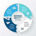 Vector circle arrows numbers infographic, diagram, graph, presentation, chart. Business cycle concept with options
