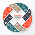Vector circle arrows X infographic, diagram, graph, presentation, chart. Business cycle concept with 8 options, parts