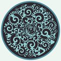 Vector circle with sea elements Royalty Free Stock Photography