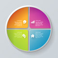 Vector circle segment infographics mockup template background simple multicolor step process steps labels infographic concepts Stock Photo
