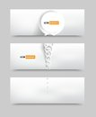 Vector circle set banner brochure template this is file of eps format Royalty Free Stock Image
