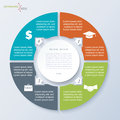 Vector circle template infographic with four segments