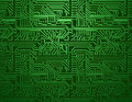 Vector circuit board green background Royalty Free Stock Photo