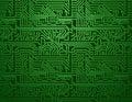Vector Circuit Board Green Bac...