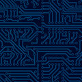 Vector circuit board seamless pattern pcb background Stock Image