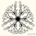 Vector circular ornament Royalty Free Stock Photo