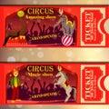 Vector circus tickets