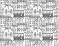 Vector city seamless pattern this is file of eps format Royalty Free Stock Photography