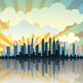 Vector Cityscape Royalty Free Stock Photography