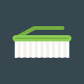 Vector cleaning brush icon work equipment illustration.