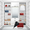 Vector Cloakroom closet Royalty Free Stock Photo