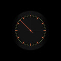 Vector clock business black with red pointer Stock Photography