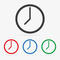 Vector clock icons Royalty Free Stock Photo