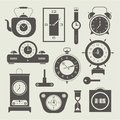 Vector clock icons set this is file of eps format Stock Photo