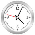 Vector clock isolated white Stock Photo