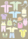 Vector clothes objects baby isolated design Royalty Free Stock Photo