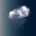 Vector cloud and rain
