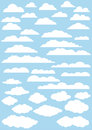 Vector clouds collection. Stock Photography