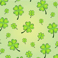 Vector clovers background illustration of for st patrick s day Stock Photography