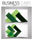 Vector cmyk business card design template colorful geometric shapes Stock Photo