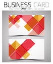 Vector cmyk business card design template colorful geometric shapes Royalty Free Stock Image