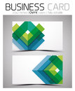 Vector cmyk business card design template colorful geometric shapes Stock Photography