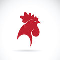 Vector of a cock head design on white background.