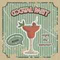 Vector Cocktail poster in vintage style Royalty Free Stock Photo