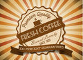 Vector coffee grunge retro vintage  label Royalty Free Stock Photo