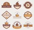 Vector coffee logos. Royalty Free Stock Photo