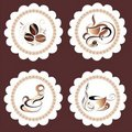Vector coffee,tea set Stock Photography