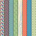 Vector Collection of Bright and Colorful Backgrounds or Digital Papers Royalty Free Stock Photo