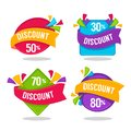 Vector collection of bright discount tags, banners and stickers Royalty Free Stock Photo